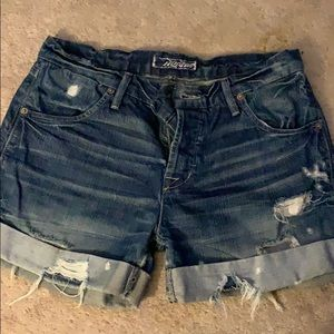 Hudson Jean shorts.  They are a 24